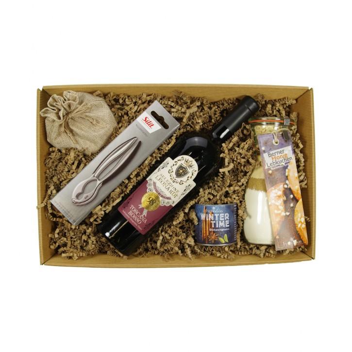 Kaminfeuer Geschenkpaket - mit/ohne Alkohol