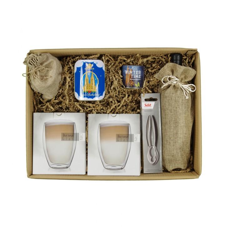Kaminfeuer for2 Geschenkpaket mit/ohne Alkohol